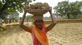 Women doing job through MGNREGA campaigning