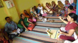Facilitating District Forum Meeting of Mahila Swasthya Adhikar Manch (MSAM)